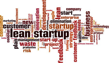 Lean startup word cloud concept. Vector illustration Illustration