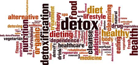 Detox word cloud concept. illustration