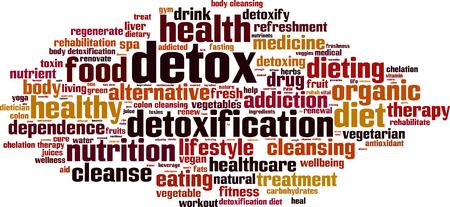 detox: Detox word cloud concept. illustration