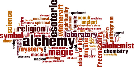 transmutation: Alchemy word cloud concept. illustration