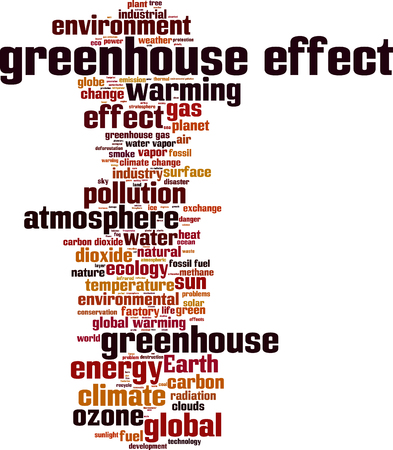 methane: Greenhouse effect word cloud concept. illustration