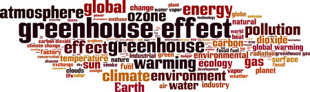 greenhouse effect: Greenhouse effect word cloud concept. illustration