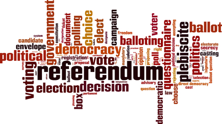 Referendum word cloud concept. Vector illustration