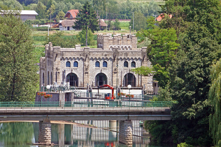 operational: Castle like Hydroelectric power plant Ozalj1 was built in 1908 and is still operational, Croatia