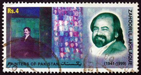 pakistani pakistan: PAKISTAN - CIRCA 2006: a stamp printed in Pakistan shows Zahoorul Akhlaque, Painter, circa 2006