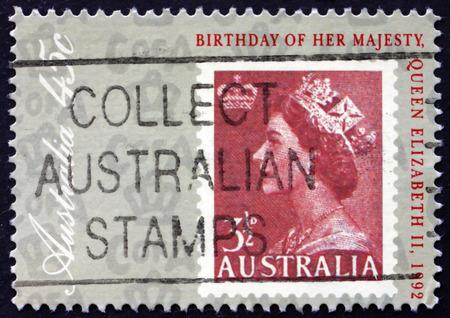queen elizabeth ii: AUSTRALIA - CIRCA 1992: a stamp printed in Australia shows Queen Elizabeth II, 66th Birthday, circa 1992
