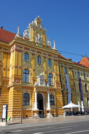 CROATIA ZAGREB, 25 SEPTEMBER 2016: Museum of Arts and Crafts, Zagreb. The museum houses more than 100,000 objects spanning from 4th century to the 20th century Editorial