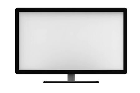tv screen: Tv screen, isolated on white background, 3D rendering Stock Photo