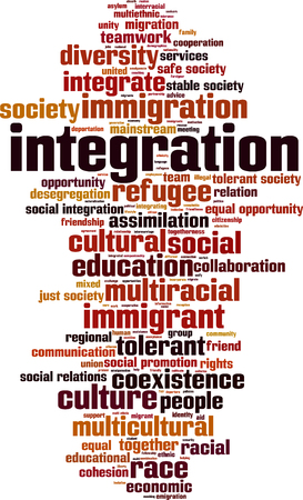 equal opportunity: Integration word cloud concept. Vector illustration