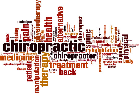 soft tissue: Chiropractic word cloud concept. Vector illustration Illustration