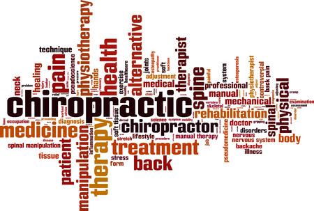 Chiropractie word cloud concept. vector illustratie