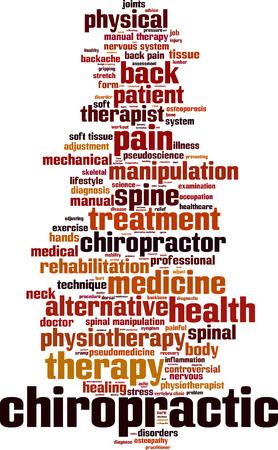 Chiropractic word cloud concept. Vector illustration Illustration