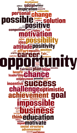 equal opportunity: Opportunity word cloud concept. Vector illustration