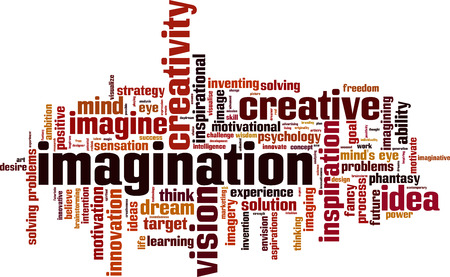 Imagination word cloud concept. Vector illustration Illustration