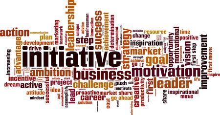 dominant: Initiative word cloud concept. Vector illustration