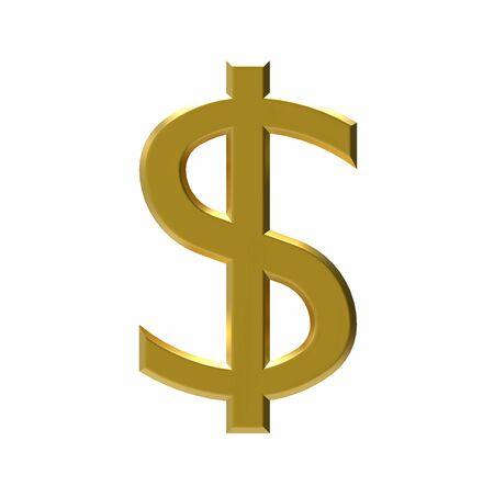 dolar: Símbolo de dolar estadounidense, la moneda de EE.UU., 3D Foto de archivo