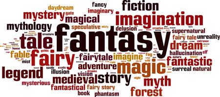 fantastical: Fantasy word cloud concept. Vector illustration
