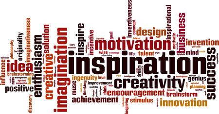 imaginativeness: Inspiration word cloud concept. Vector illustration Illustration
