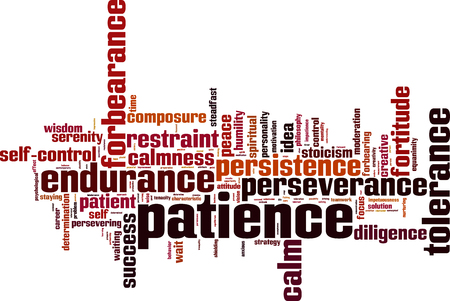 Patience word cloud concept. Vector illustration