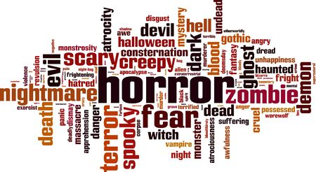 Horror word cloud concept. Vector illustration