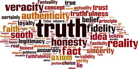 legitimacy: Truth word cloud concept. Vector illustration Illustration