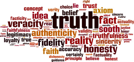 truth: Truth word cloud concept. Vector illustration Illustration