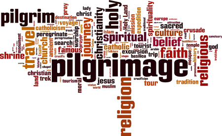 pilgrimage: Pilgrimage word cloud concept. Vector illustration