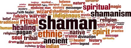 shamanism: Shamanism word cloud concept. Vector illustration