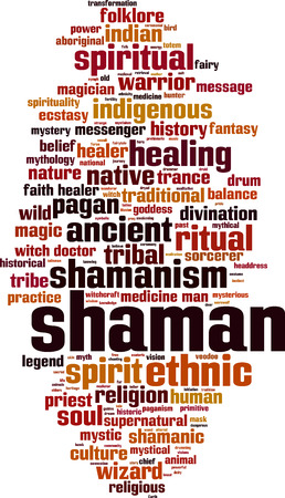 ecstasy: Shamanism word cloud concept. Vector illustration