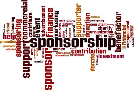 Sponsorship word cloud concept. Vector illustration