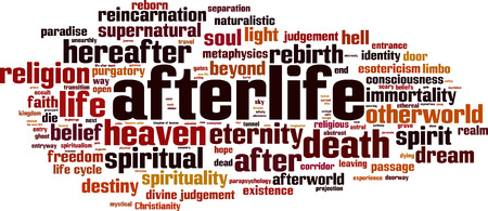 Afterlife word cloud concept. Vector illustration