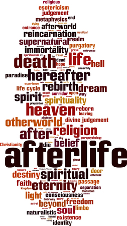naturalistic: Afterlife word cloud concept. Vector illustration