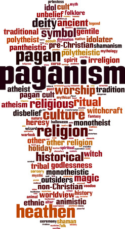 paganism: Paganism word cloud concept. Vector illustration