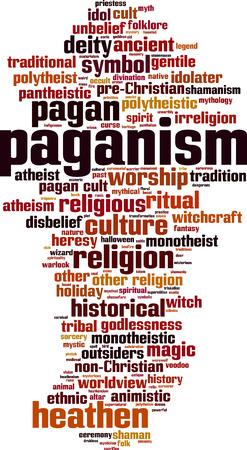 gentile: Paganism word cloud concept. Vector illustration