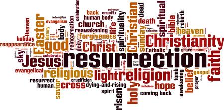 Resurrection word cloud concept. vector illustratie Stock Illustratie