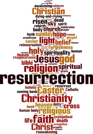 Resurrection word cloud concept. Vector illustration  イラスト・ベクター素材