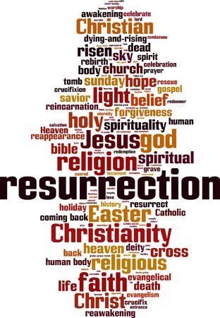 Resurrection word cloud concept. Vector illustration Illustration