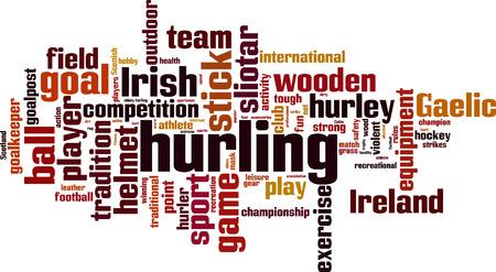 hurling: Hurling word cloud concept. Vector illustration