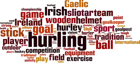 hurl: Hurling word cloud concept. Vector illustration