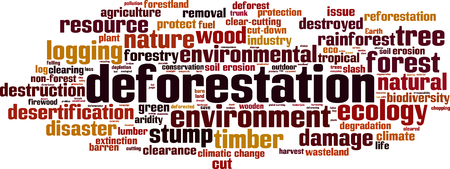 Deforestation word cloud concept. Vector illustration Banco de Imagens - 66830491