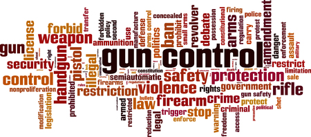 use regulation: Gun control word cloud concept. Vector illustration