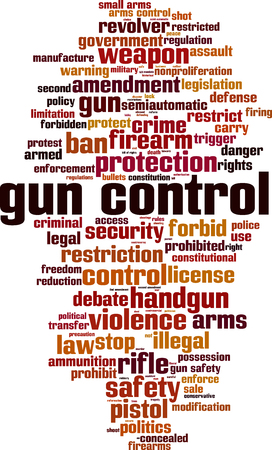 modification: Gun control word cloud concept. Vector illustration