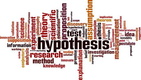 Hypothesis word cloud concept. Vector illustration