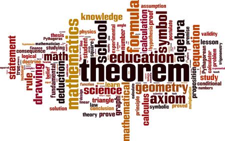 validez: Teorema palabra nube concepto. ilustración vectorial Vectores