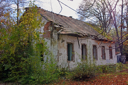 Ruins of old abandoned house