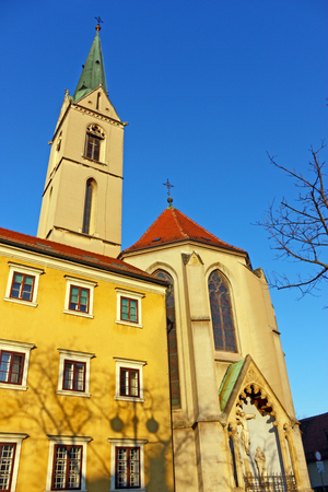 francis: View of Church of St. Francis, Zagreb, Croatia