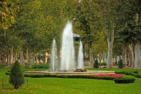 View of Zrinjevac, park in Zagreb, Croatia Stock Photo