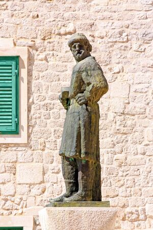worked: Sculpture of Giorgio da Sebenico, Venetian sculptor who worked mainly in Sibenik Stock Photo