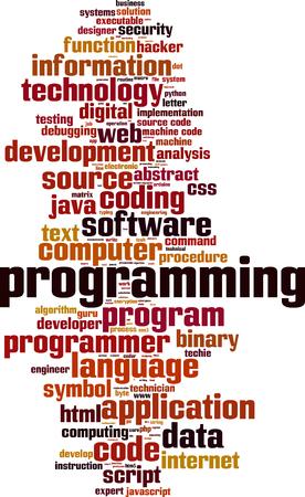 Programming word cloud concept. Vector illustration