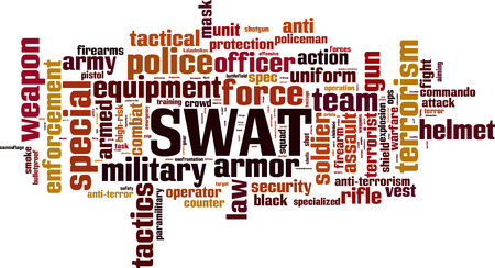 SWAT word cloud concept. Vector illustration Illustration